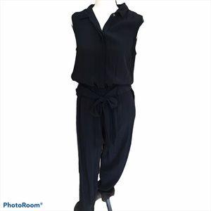 Lucky Brand sleeveless button front jumpsuit